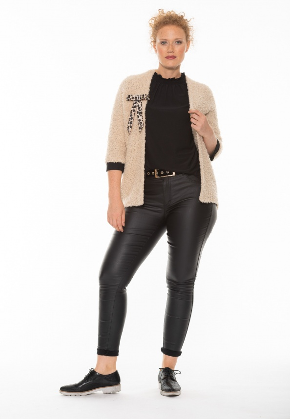 Damen-Strickjacke beige