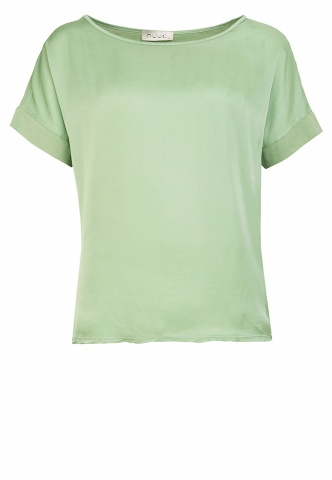 Damen-T-Shirt, Web-Wirk-Mix, salbei