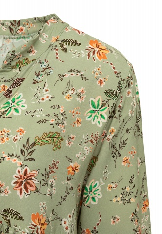 Damentunika, Floralprint-Mix, salbei