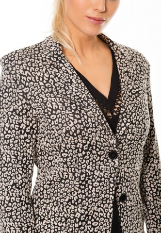 Damenblazer mit Animal-Print