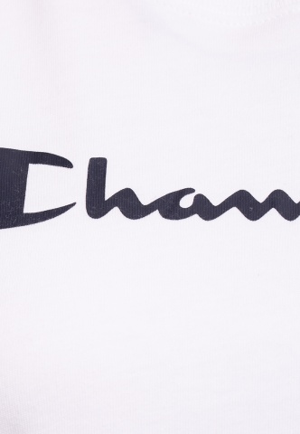 Damenshirt T-Shirt Champion-Logoprint, weiß