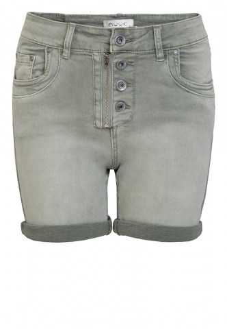 Damen-Short Colour Denim, oliv