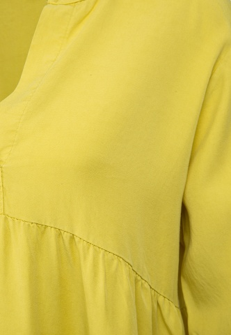 Damen-Tunika mit Volant, Tencel, lime