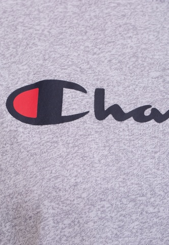 Damenshirt T-Shirt Champion-Logoprint, grau