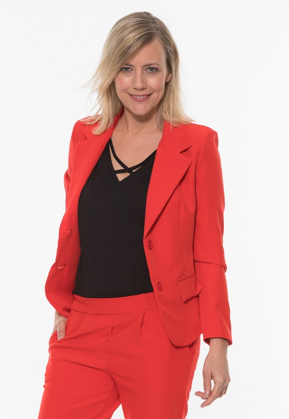 Damen Blazer Micro-Stretch, rot