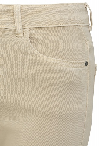 Damen-Jeans, Colour-Denim, verkürzt, beige