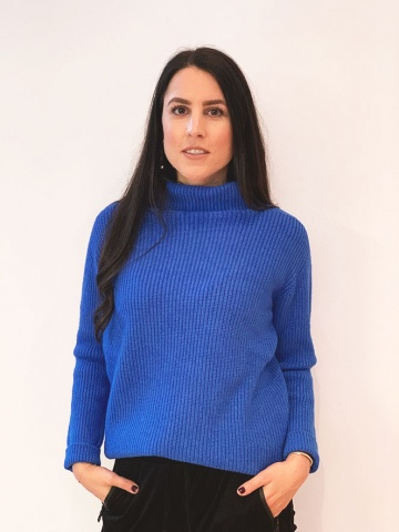 Damenpullover Rolli Ripp, royal