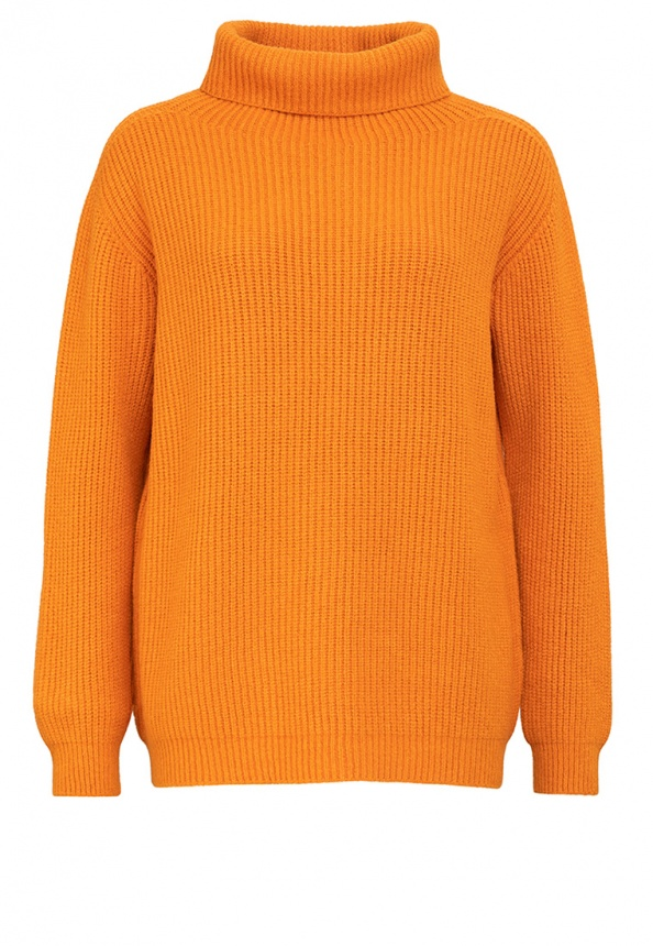 Damenpullover Rolli Ripp, orange