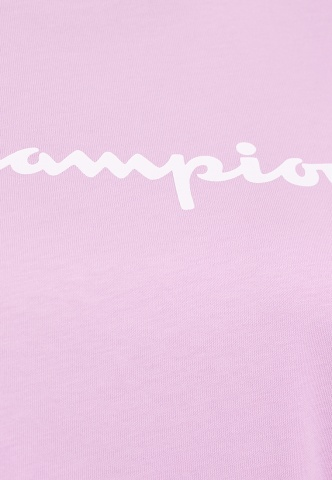 Damenshirt T-Shirt Champion-Logoprint, rosa