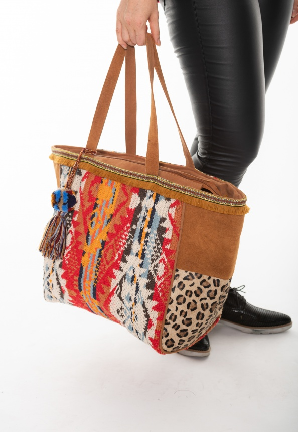 nuuc Damen-Shopper Folklore Inka camel