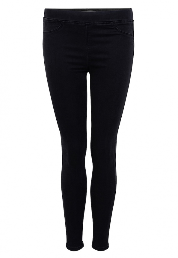 Damen-Jegging, Baumwolle-Stretch, schwarz