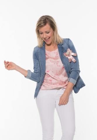 Damen Jeansblazer supersoft, denim