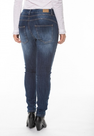 Damenjeans Blue Denim mit Metall-Gallonstreifen