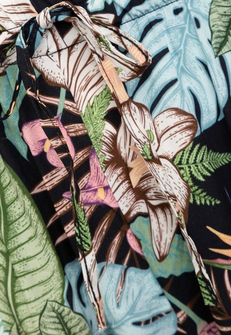 Damenhose Tropicalprint