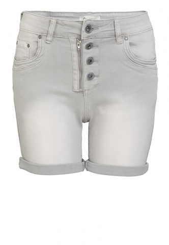 Damen-Short Colour Denim, hellgrau