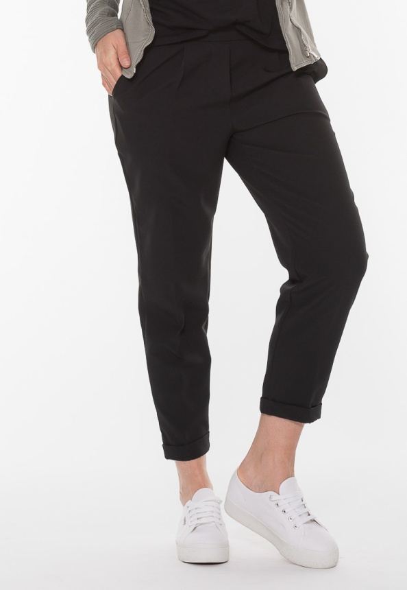 Damen Hose, Micro-Stretch, schwarz