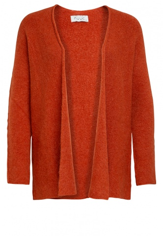 Damen-Cardigan Feinstrick, kurz, orange