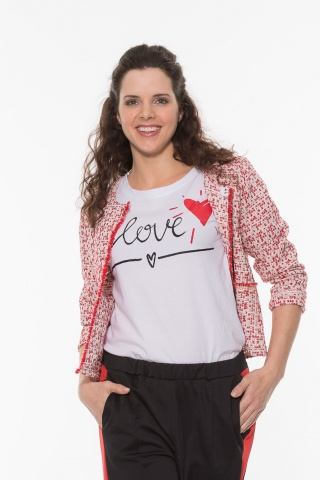 Damen T-Shirt Love, weiss