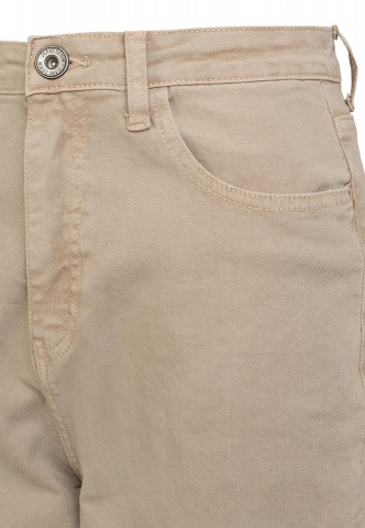 Damen-Jeans, Colour-Denim, Highwaist, beige